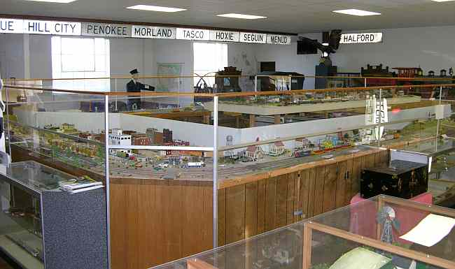 model train layout at Ellis Railroad Museum