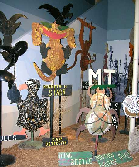 M. T. Liggett metal signs and sculpture