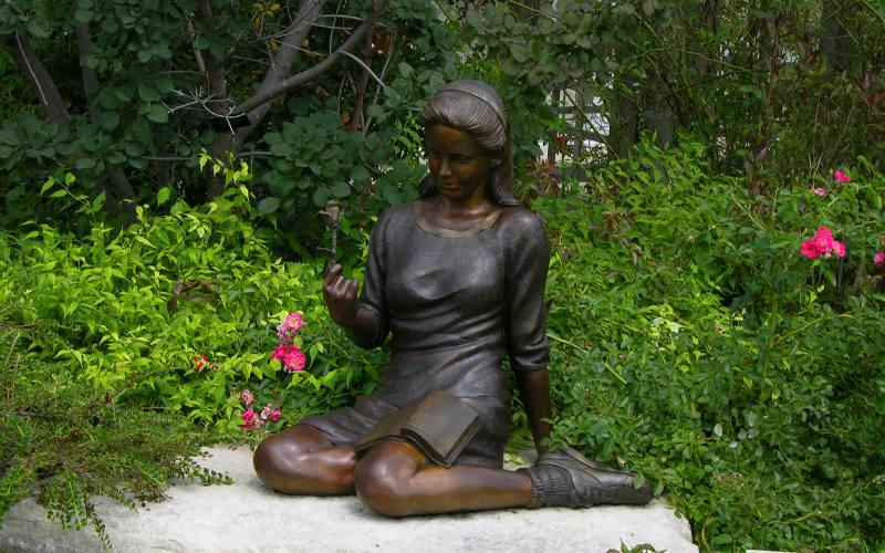 Statue in the display garden