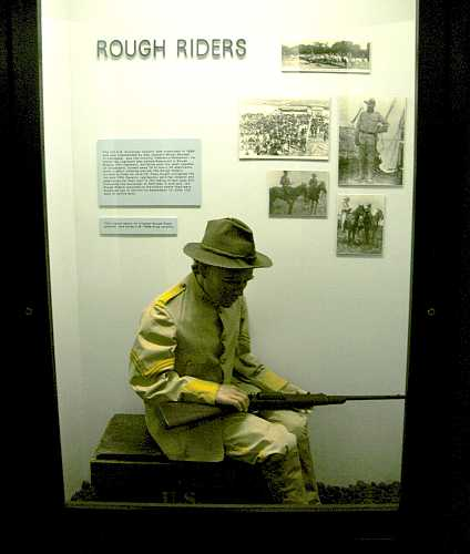 Rough Rider exhibit in US Cavalry Museum