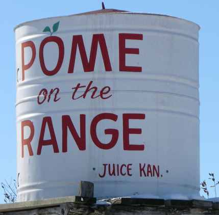 Pome on the Range giant apple juice can.
