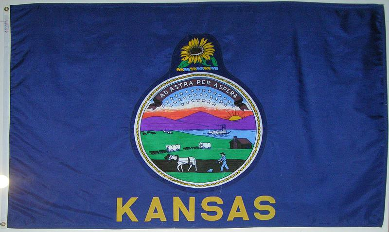 Kansas State Flag from space