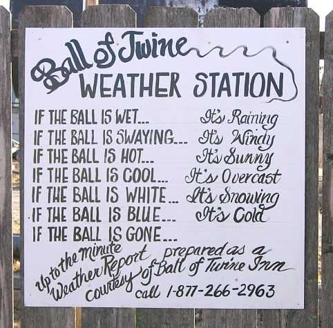 World's Largest Ball of Twine weather report