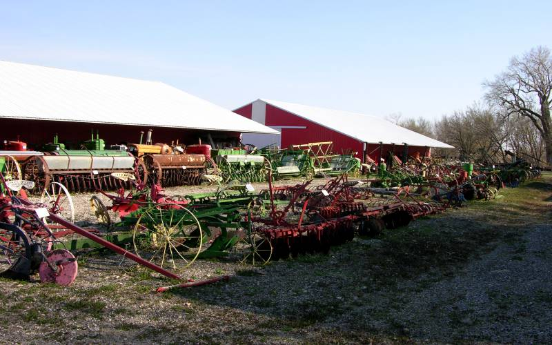 antique threashing machines at  Agricultural Heritage Park in Alta Vista, Kansas