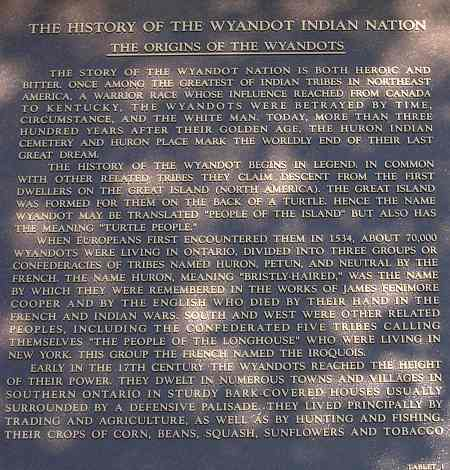 History of the Wyandote Indian Nation