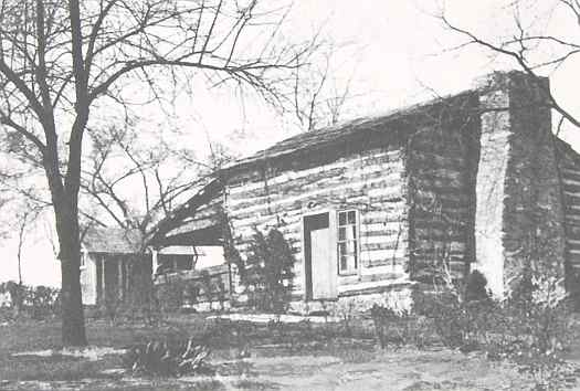 Adair Cabin at John Brown Museum in Osawatomie, Kansas