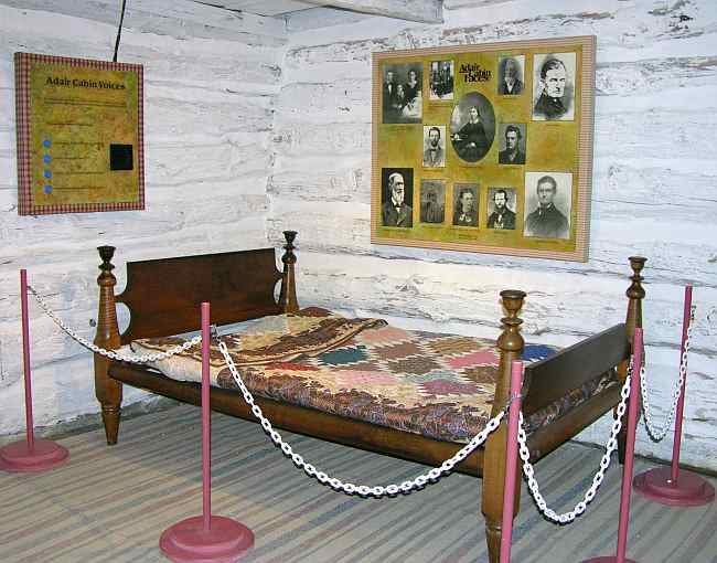 original bed in the 1850's Adair cabin