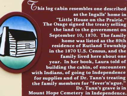 History of the Little House on the Prairie log cabin