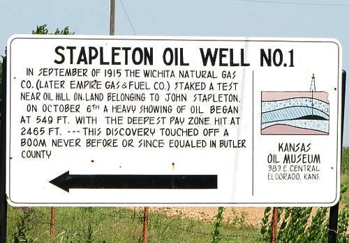 Stapleton #1 Historic Well - El Dorado, Kansas
