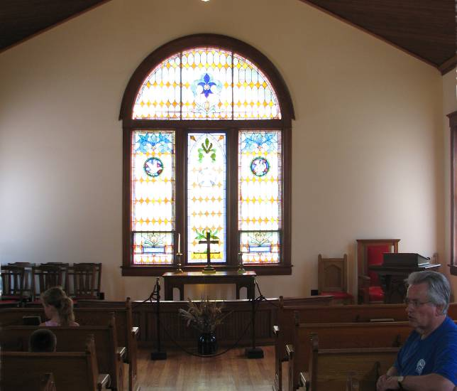 Everest Methodist church interior