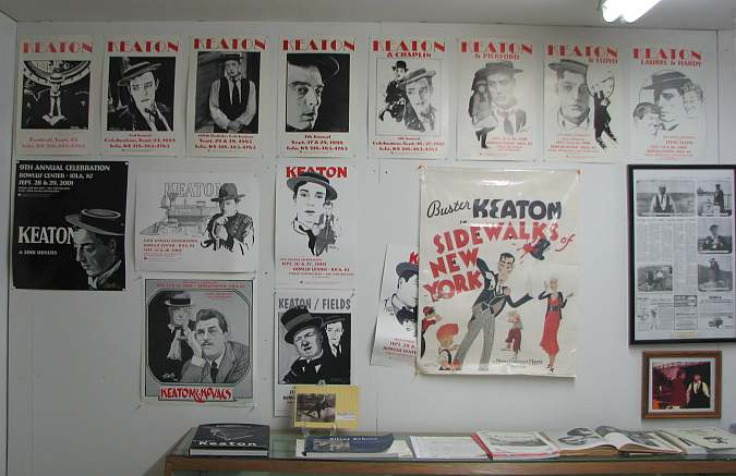 Buster Keaton Celebration poster display