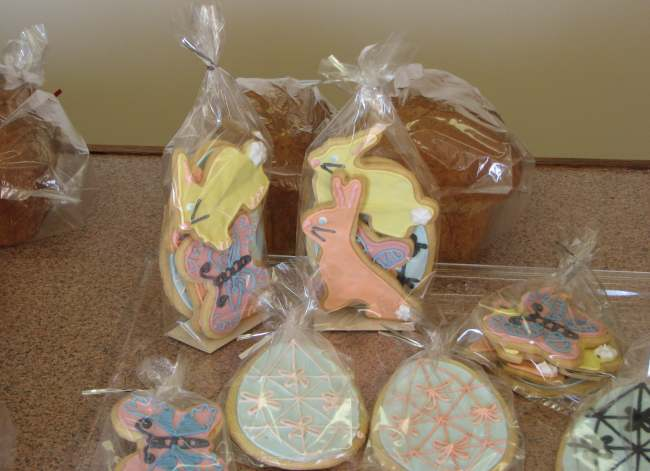 Decorated Easter Cookies at the European Bakeshop