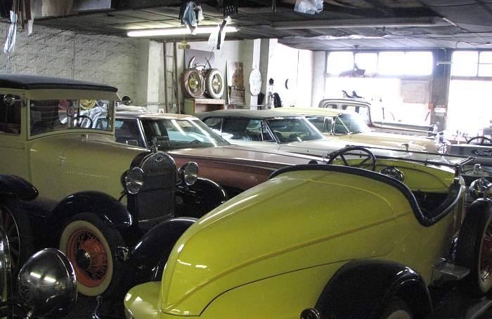 Antique fords on display in DeSoto, Kansas