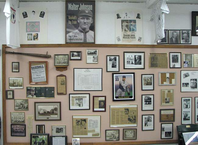 Walter Johnson at Humboldt Historical Museum.
