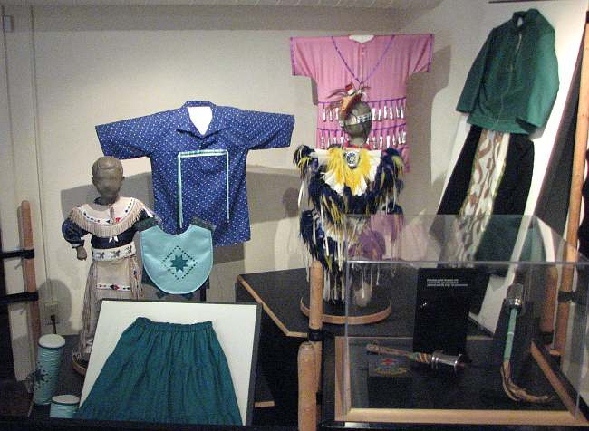 Native American clothing at Native American Heritage Museum