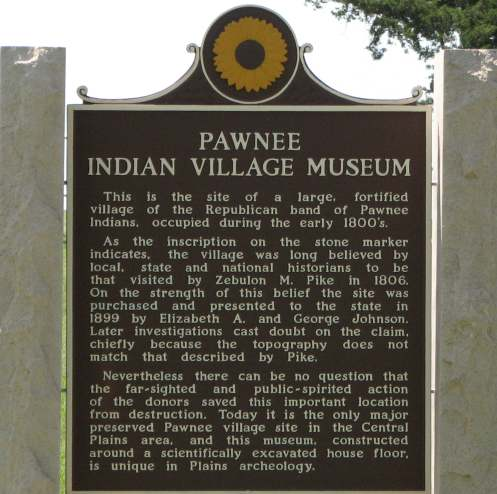 Pawnee Indian Museum State Historic Site - Republic, Kansas