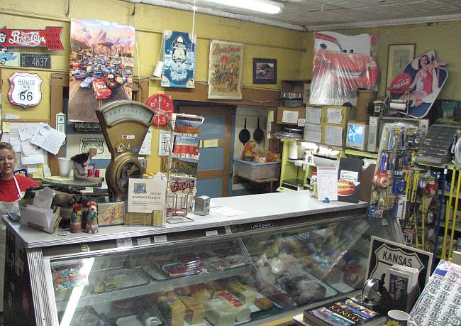 Deli counter at Eisler Bros. Old Riverton Store