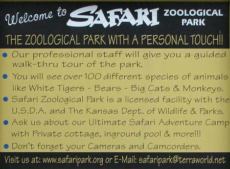Safari Zoological Park - Caney, Kansas