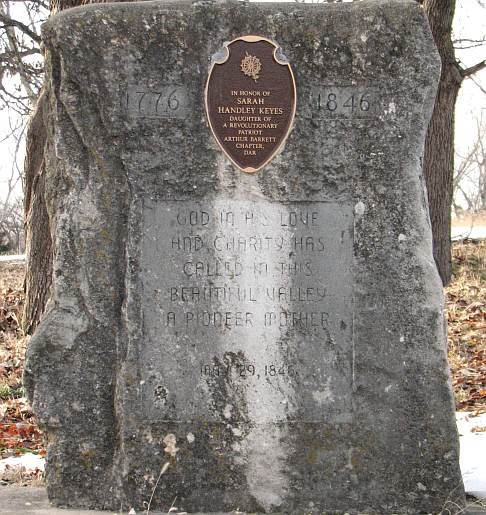 Sarah Handley Keyes marker. Donner Party