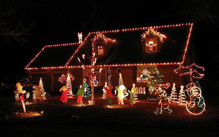 Candy Cane Lane Prairie Village Kansas