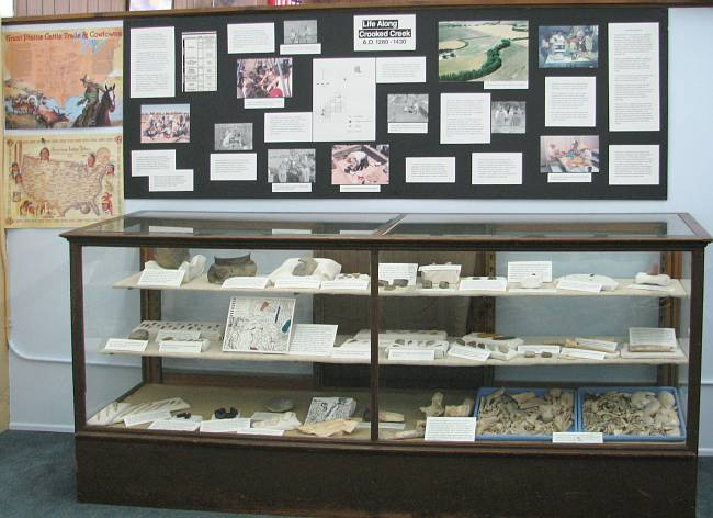 Crooked Creek exhibit at the Meade County Historical Museum