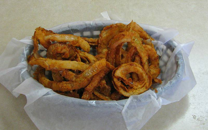 Onion Rings at the Chicken House in Olpe, Kansas.