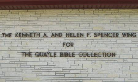 Quayle Bible Collection - Baldwin City, Kansas