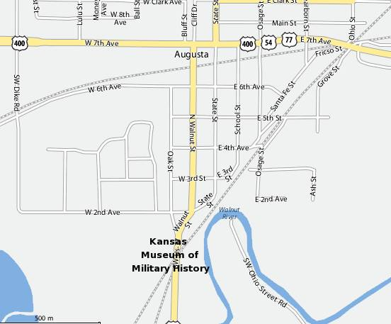 Kansas Museum of Military History Map