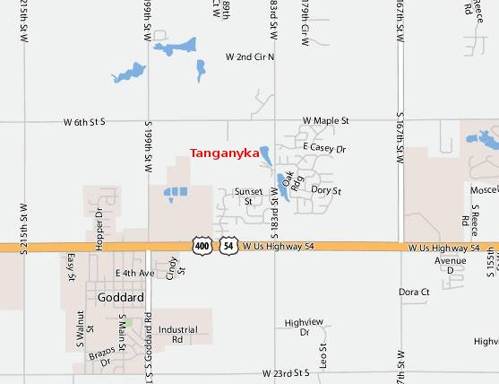 Tanganyika Wildlife Park Map
