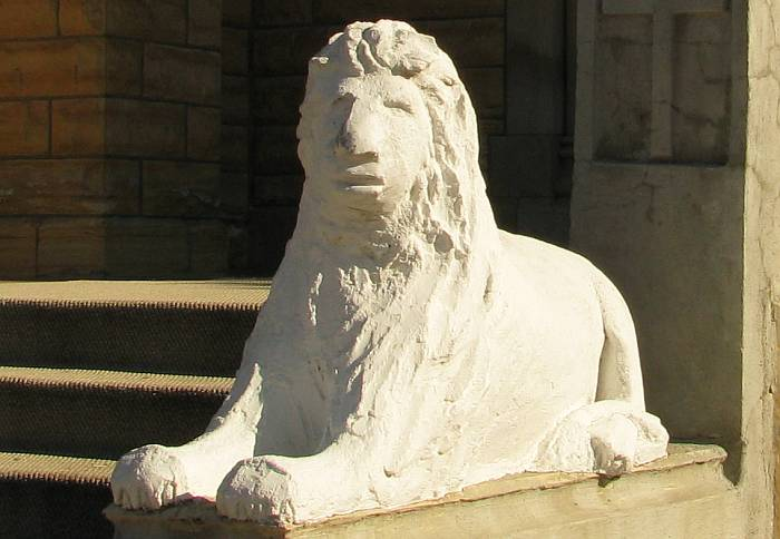 ONe of the Holy Cross lions