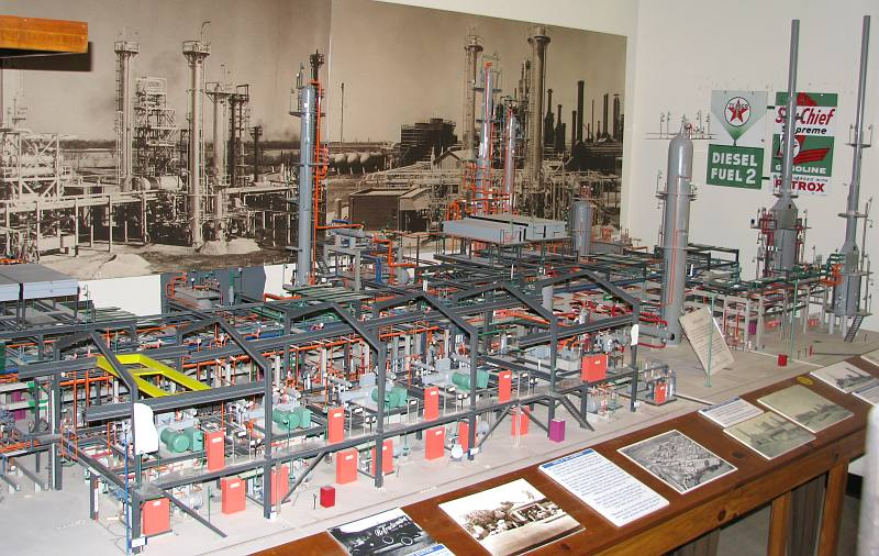 Pester Refining Company scale model - El Dorado, Kansas