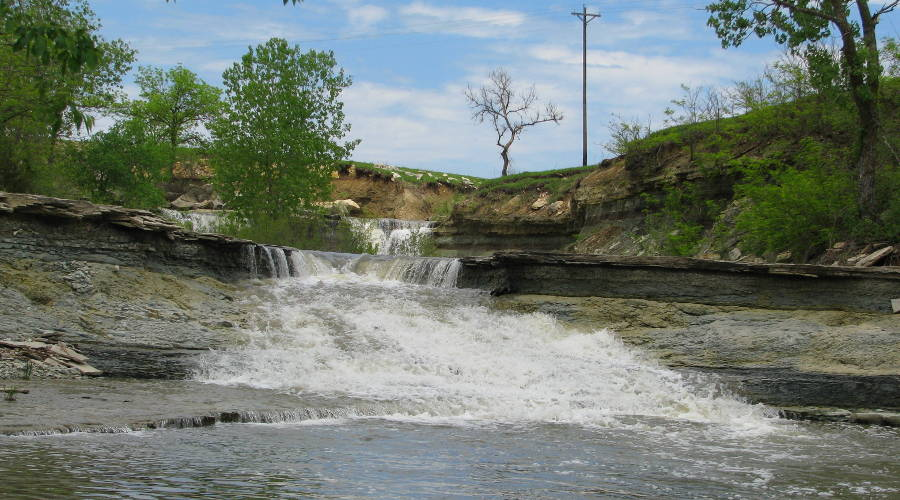 Lake Kahola Waterfall - Emporia, Kansas