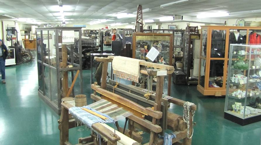 loom at the Crawford County Historical Museum