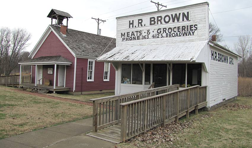 Green Elm School, H. R. Brown Meats and Groceries