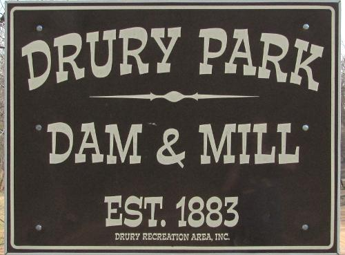 Drury Park Dam and Waterfall 1883