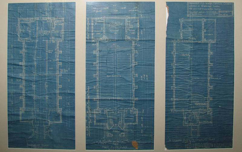 Immaculate Heart of Mary Church blue prints