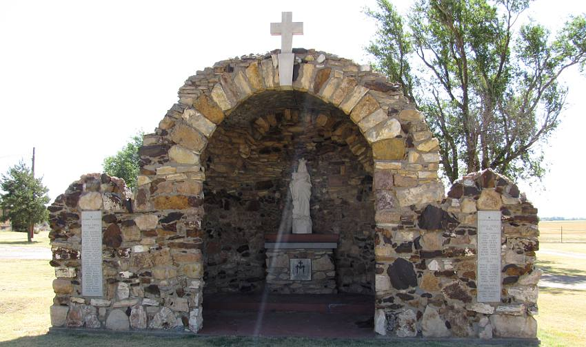 Immaculate Heart of Mary Church grotto