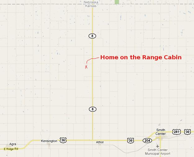 Home on the Range Cabin Map - Kansas