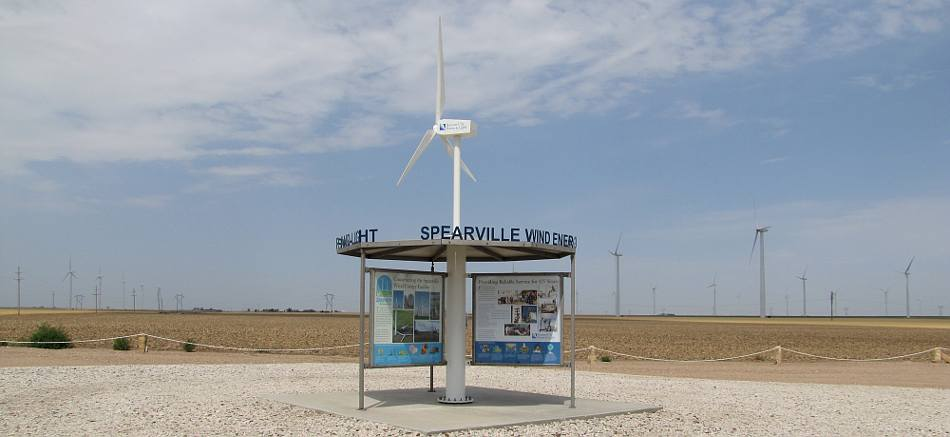 Spearville Wind Energy kiosk