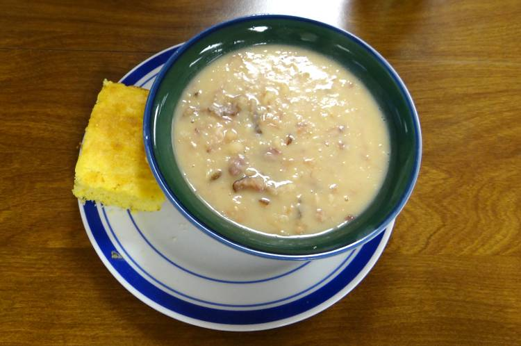 ham and beans at The Miracle Cafe - Reading, Kansas