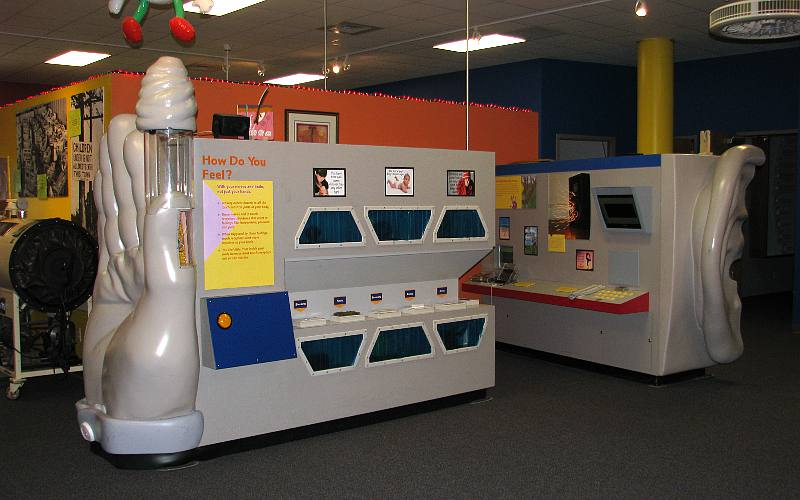 Kansas Learning Center for Health exhibits on touch and hearing