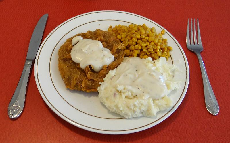 Sommerset Hall Cafe chicken fried steak