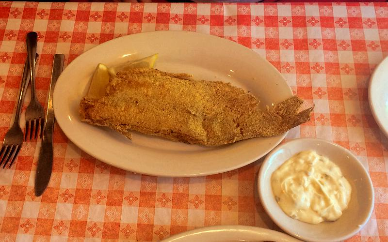 fried catfish - Stroud's, Fairway