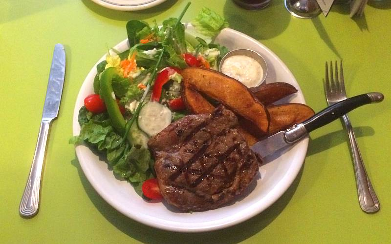 ribeye steak - Ad Astra Food and Drink