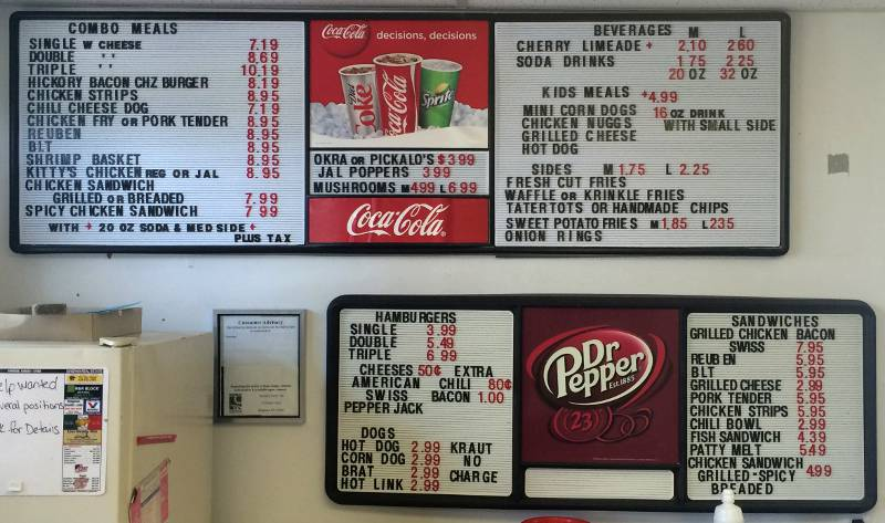 Smitty's Carry Out menu - Kingman, Kansas