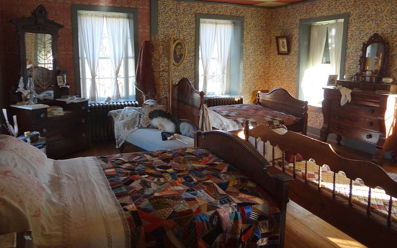 Wolf House Museum bedroom