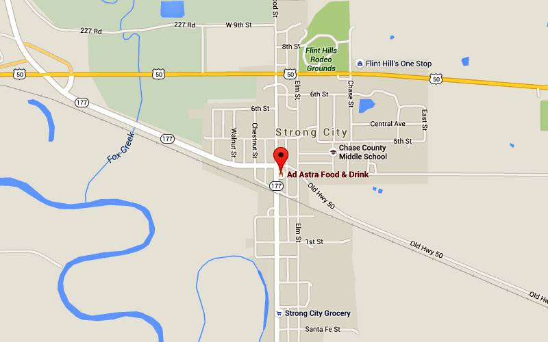 Ad Astra Food and Drink Map - Strong City, Kansas