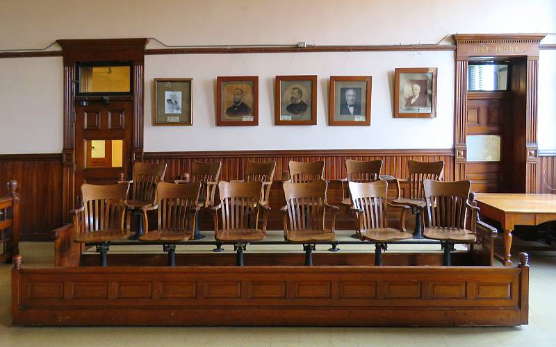 Jury box - Franklin County Courthouse