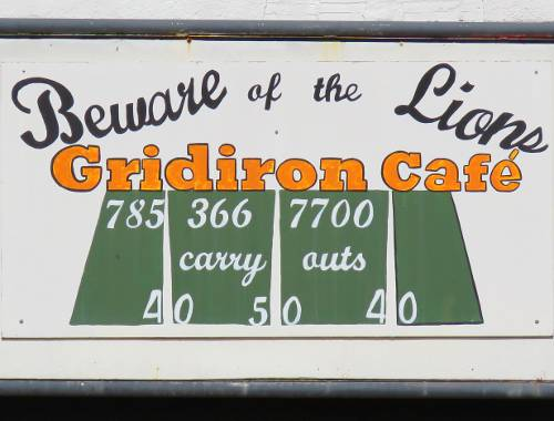 Gridiron Cafe - Hope, Kansas