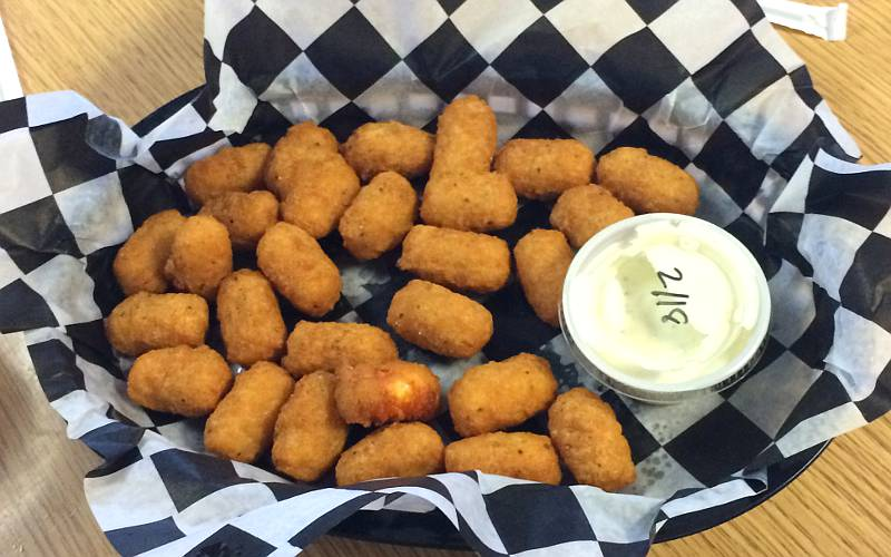 Fried cheese curds at Nelson's Landing